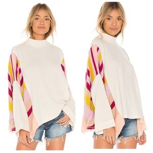We the free waffle knit top.